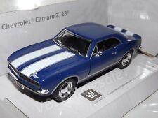 "1967 Chevrolet Camaro Z/28 Blue Die Cast Metal Model 5"" Kinsmart Collectable"