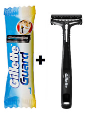 15 Gillette Guard Razor Cartridge + 2 Razor Handle with Blade Easy Shave Men