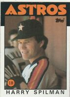 FREE SHIPPING-MINT-1986 Topps #352 Harry Spilman Astros PLUS BONUS CARDS