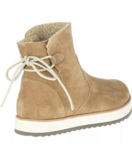 NIB $130 Women's Merrell Juno Bluff Polar Waterproof Boot  Size 10 Color Camel