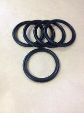 "5 Pcs 2.5"" Buna-N (Nitrile) Sanitary Tri Clamp Gasket Black NEW"