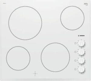 Bosch PKE652CA1E Cooktop White 23 5/8in Schott Ceran Frameless Rotating Knob