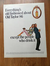 1965 Old Taylor 86 Kentucky Bourbon Whiskey Ad