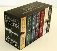 A GAME OF THRONES 7 BOOK SET SONG OF ICE AND FIRE BY GEORGE R R MARTIN BRAND NEW