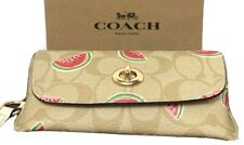 Coach Sunglass Case In Signature C Canvas Watermelon 2039 New