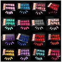 New 100 PCS False Acrylic Gel French Full Nail Art Tips Salon - Color Choose