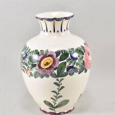 i94t18- Keramik Vase mit Blumendekor