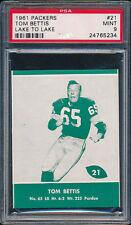 1961 Lake to Lake Packers #21 Tom Bettis PSA 9 (FB01)