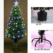 2ft Fibre Optic Pre-Lit Christmas Tree With Star Led Lights Xmas Decoration