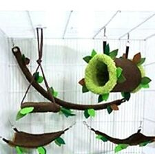 Hot Sale !! 5 Pcs Sugar Glider Cage Set Forest Pattern ,Hamster , Small Pet.