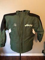 New York Jets Reebok Green Hooded Winter Coat w/ Team Logo  Youth Large 14