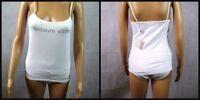 New Pleasure State Lingerie White 2 Piece Set - Small Camisole Top + Midi Brief