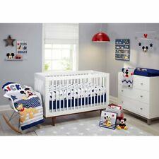 Mickey Mouse Bed Room Infant Comforter Crib Bedding Set Nursery Sheet Toddler