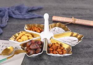 Knabber Schale Set 6-teilig Cerezlik Servierschale Knabberschale Marmor Design