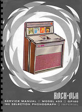 MANUALE DI SERVIZIO (Service Manual) JUKEBOX ROCK-OLA 433 IMPERIAL (juke box)