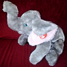 Vintage Ty Classic TEENSY the Elephant Grey 19in Plush 2002 Pink Inner Ears Tag