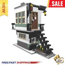 MOC-4307 31036 Railroad Tower City Architecture Set Model Building Blocks Toys