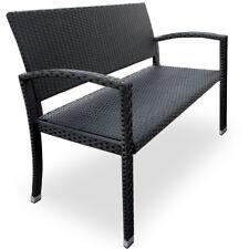 Poly Rattan Gartenbank 2 Sitzer Sitzbank Bank Gartenmöbel Garten Möbel schwarz