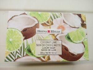 Sienna Hills Shea Butter Coconut Lime Bar Soap Luxury Bath Body Soap In Box