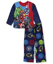 Disney Marvel Avengers Sleepwear Pajama Set Size 8 New Free Ship Iron Captain Hu