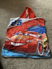 lightning mcqueen Hooded Poncho Towel