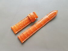 20mm Orange Genuine ALLIGATOR, CROCODILE LEATHER SKIN WATCH STRAP BAND