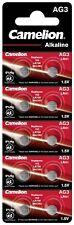 AG3, LR41, SR41, 192, Knopfzellen Batterien Alkaline 1,5V Camelion im 10er-Pack