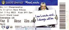 Leeds United v Brighton & Hove Albion Ticket Stub 03/08/13 (2013/2014)