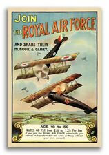 1918 British Join the Royal Air Force RAF WW1 Dogfighting Poster - 16x24