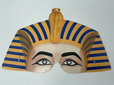 Vintage Paper Mask Egyptian Princess Half Face Cobra Halloween Mardi Gras