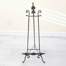 "Vintage Medium Victorian Styled 30"" Tall Ornate Wrought Iron Display Art Easel"