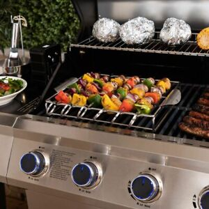 Fire Mountain Stainless Steel Kebab Rack with Skewers