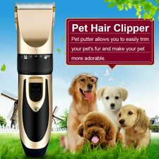 Professional Grooming Pet Cat Dog Hair Cut Electric Clipper Trimmer Shaver Kits