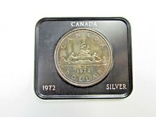 1972~Canada~Silver~One Dollar Coin~*Rainbow Toned*~In Presentation Case~Canoe