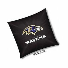 BALTIMORE RAVENS PILLOW OFFICIAL TOSS NFL FOOTBALL HOME BED SOFA SUPERBOWL TV