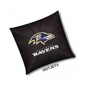 BALTIMORE RAVENS PILLOW OFFICIAL TOSS NFL FOOTBALL HOME BED SOFA SUPERBOWL TV
