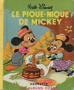 les albums roses Hachette - La pique Nique de Mickey - 1954