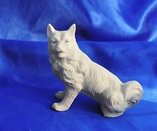 Victorian Bisque Samoyed American Eskimo Spitz Sitting Dog Gorgeous *