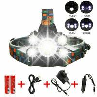 Super-bright 90000LM 5 X T6 LED Headlamp Headlight Flashlight Head Torch Light U
