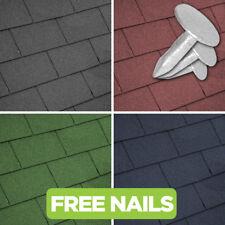 GroundMaster Roofing Felt Shingles Roof Tiles Square Butt 4 Tab 2.61m² Pack