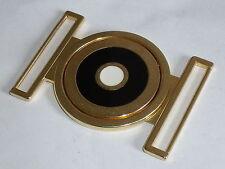Gürtelschnalle Schließe Hakenverschluss  4,2 cm gold NEUWARE rostfrei #508.2#