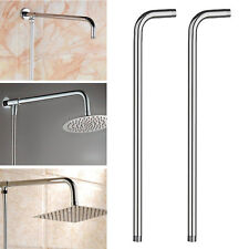 "24"" 60cm Stainless Steel Wall Mounted Tube Rainfall Shower Head Arm Bracket New"
