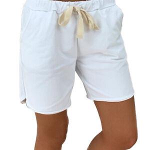 Ladies Shorts Lounge Wear Elasticated Waist Casual Baggy Summer Beach Hot Pants