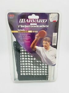 """Harvard 72"""" Table Tennis Net And Post Set-USA Table Tennis Approved Factory Seal"""