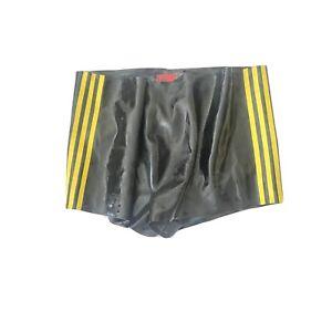 Regulation Black Rubber Gay Yellow Sripes Shorts