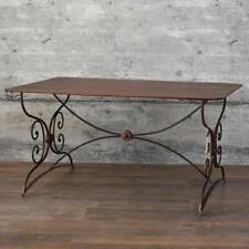 Eisentisch DAJLA Gartentisch 150x90 Esstisch rostbraun schwarz Antik Shabby Stil