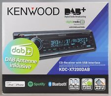 Kenwood KDC-X7200DAB mit DAB-Antenne/ CD/ 2xUSB/ MP3/ AUX/ Bluetooth