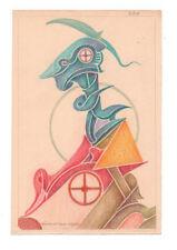 Fritz Klee original Pastell Zeichnung 1954 / 24,5x16,5