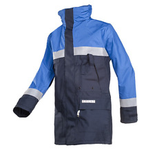 Sioen Siopor Blue Waterproof Parka Coat FR3 AS3 3074 Medium Hooded Jacket