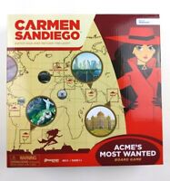 Carmen Sandiego Catch Vile And Return The Loot Board Game New